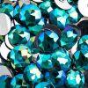 Acrylic Round Flat Back Rhinestones 20mm Turquoise Aurora Borealis 200pcs/bag